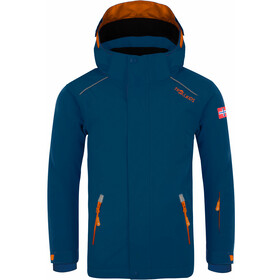 TROLLKIDS Holmenkollen PRO Snow Jacket Kids, mystic blue/orange